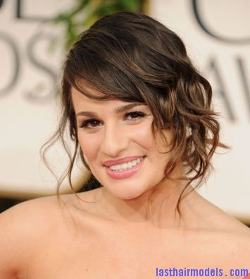 lea michele Tendril twist bun.