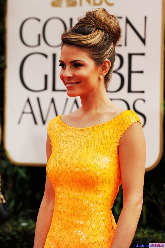 maria menounos golden globes 2012 66615 Maria Menounos's bun in style: A halo of radiance!