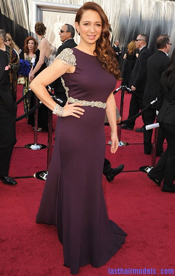 maya rudolph ocsars 2012 Maya Rudolph's side curls: Making a statement of their own.