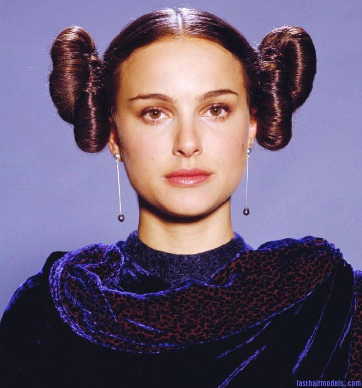 natalie portman star wars hairstyle 2 bun up do Double buns: Chinese 'ox horns' hairstyle.