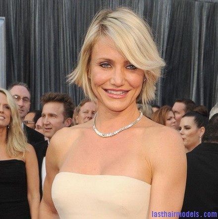 oscars camerondiaz001 Cameron Diazs  signature short bob: Short is in!!