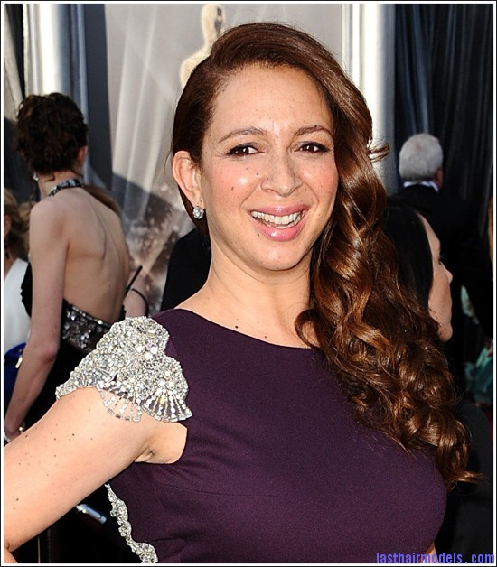 oscars mayarudolph001 Maya Rudolph's side curls: Making a statement of their own.