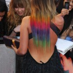 rainbow ombre dark hair