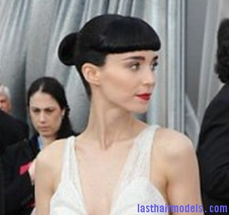 rooneymara Rooney Maras short bun: Shine and neatness in one!!