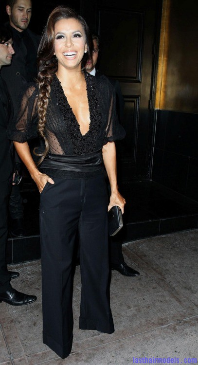 tumblr m33su6AZA71r2d9c9 Eva Longoria's side plait: the sleek feminity!