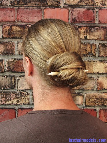 4923082512 fe0835c10f Lazy wrap hairstyle: Tuck a stick in!