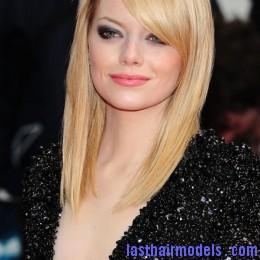 emma stone�s shoulder length straight bob sophistication