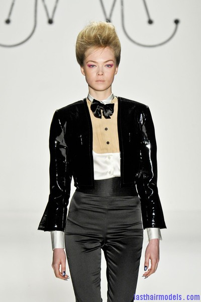 Ruffian+Fall+2011+3DotkYeEOaUl Messy high pompadours with crown sweep updos!