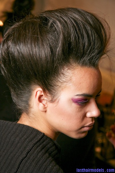 Ruffian+Fall+2011+Backstage+g2Rlmb9dMjtl Messy high pompadours with crown sweep updos!
