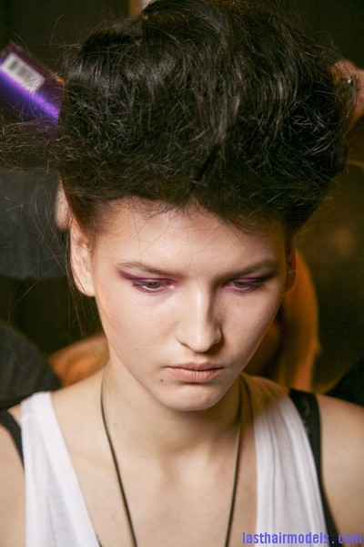Ruffian+Fall+2011+Backstage+pX0RQRBr9Ivl Messy high pompadours with crown sweep updos!