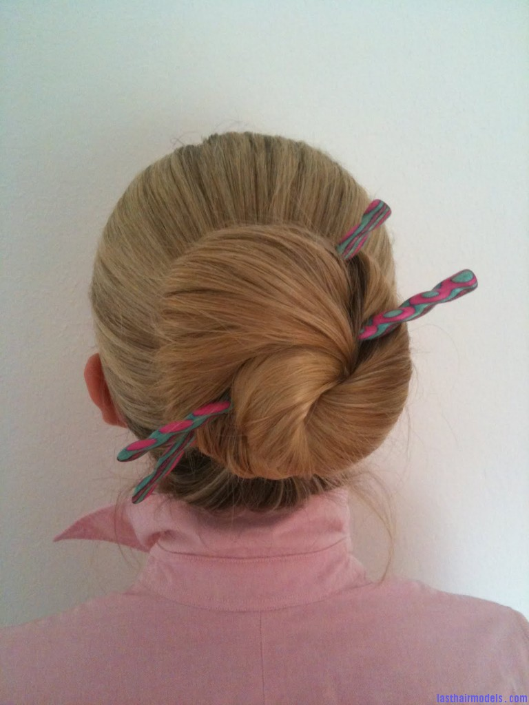 Tag 4 768x1024 Lazy wrap hairstyle: Tuck a stick in!
