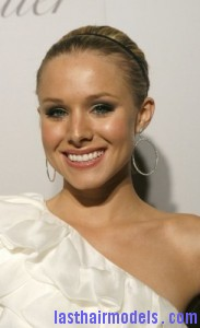 kristen bell 183x300 Kristen Bells Sleek Updo