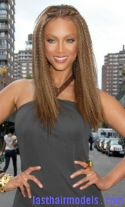 tyra banks 181x300 Tyra Banks Crimped Hairstyle