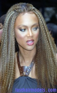 tyra banks2 183x300 Tyra Banks Crimped Hairstyle