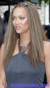 tyra banks4 170x300 Tyra Banks Crimped Hairstyle