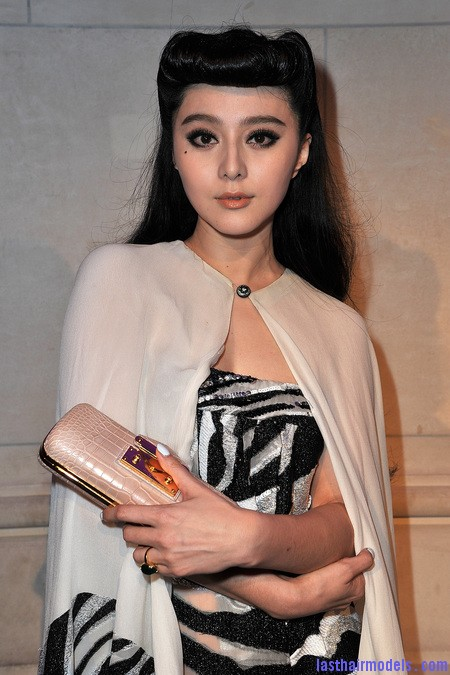 140900095 Fan Bing Bings retro rotund updo: Retro meets modern!!