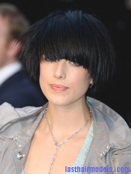 Agyness Deyn Black Bowl Bob Hairstyle Agyness  Deyn 's Bowl cut hairstyle: Ultra chic chick!