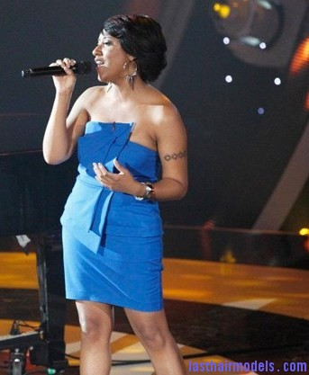 John Legend with Bridget Ca Bridget Carrington's elegant short hairdo: Front short sweep!