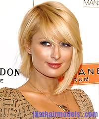 Paris Hilton at the Scandinavian Style Mansion Party Paris Hilton's asymmetrical bob: Peppy hairstyle!