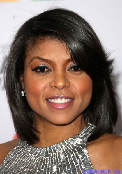 Taraji+P+Henson+Dresses+Skirts+Evening+Dress+uw6n7I9BrQVl Taraji P Hensons chin length blunt cut: Sleeky shorty mane!