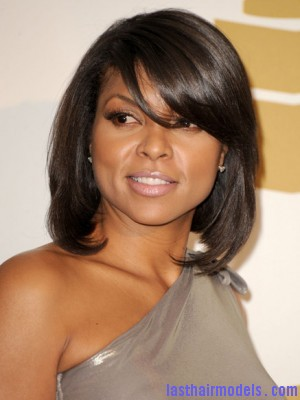Taraji P Henson Grammy Concert 300x400 Taraji P Hensons chin length blunt cut: Sleeky shorty mane!