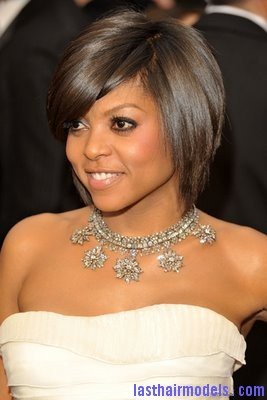 Taraji P  Henson Oscars1 Taraji P Henson's sleek shiny bob : shine in perfection!