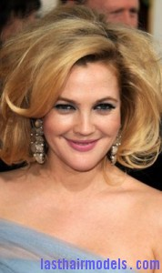 drew barrymore 178x300 Drew Barrymores Sloppy Tease Hair