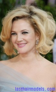 drew barrymore2 183x300 Drew Barrymores Sloppy Tease Hair