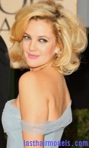 drew barrymore4 182x300 Drew Barrymores Sloppy Tease Hair