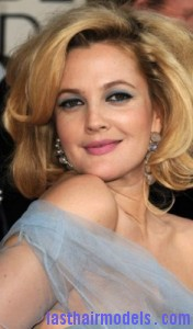 drew barrymore5 176x300 Drew Barrymores Sloppy Tease Hair