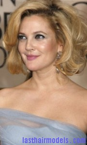 drew barrymore8 180x300 Drew Barrymores Sloppy Tease Hair