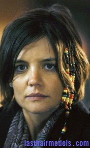 katie holmes 183x300 Hairstyle With Beads