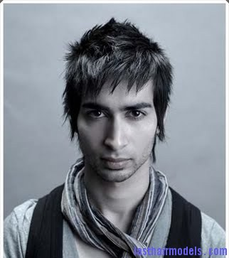 man+spiky+haircut+in+medium+length+with+long+bang Asymmetrical hairstyles for men:  Change the trend!