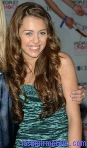 miley cyrus5 177x300 Hairstyle With Rag Curls