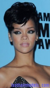 rihanna51 172x300 Rihanna With Tapered Hairstyle