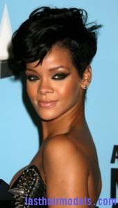 rihanna6 170x300 Rihanna With Tapered Hairstyle