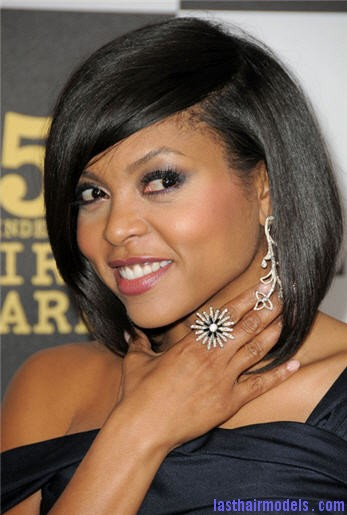 taraji 6 Taraji P Henson's sleek shiny bob : shine in perfection!