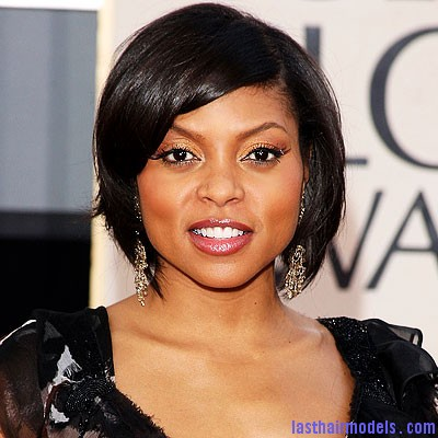taraji bob style1 Taraji P Henson's sleek shiny bob : shine in perfection!