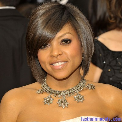 taraji p henson top trendiest haircuts Taraji P Henson's sleek shiny bob : shine in perfection!