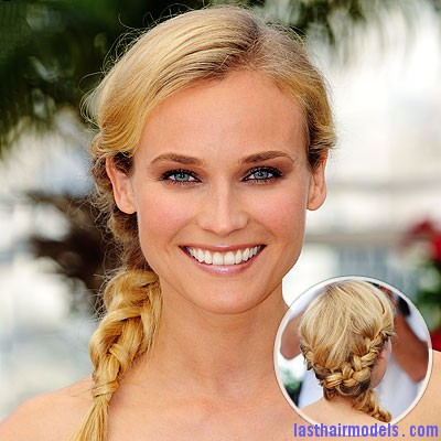 052109 kruger 400x400 Diane Kruger's 'Y' shaped messy plait: Styling is fun!