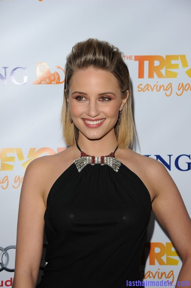 Dianna+Agron+Shoulder+Length+Hairstyles+Medium+V1ihz 1eRtUl Dianna Agrons clean front poof: Shoulder length hair made to look awe! 
