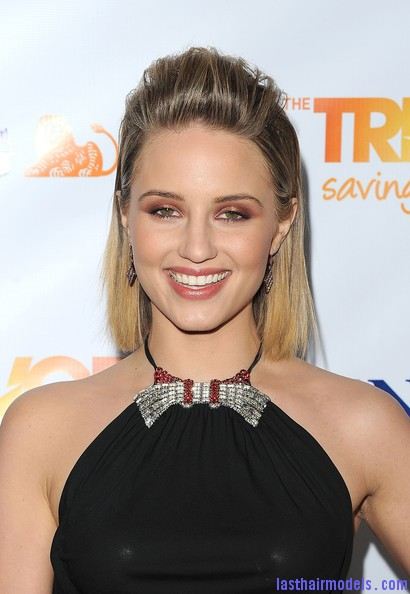 Dianna+Agron+Shoulder+Length+Hairstyles+Medium+jHLi6ElrAs l Dianna Agrons clean front poof: Shoulder length hair made to look awe! 