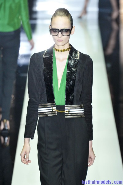 Gucci+Spring+2012+GBsJKnLcHQXl Suave poof with a back bun: Totally polished!