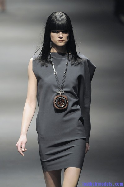 Lanvin+Fall+2010+ryWgYtKQGtrl Simple straight loose hair with ruling bangs: Dark sleekness!