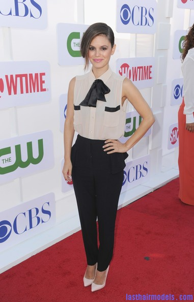 Rachel+Bilson+Updos+French+Twist+Ma guHPM2R l Rachel Bilson's long side bang: With a faux bob! Beautiful!