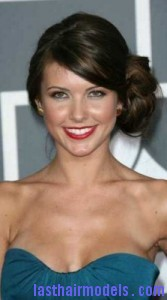 audrina patridge 167x300 Side Swept Chignon