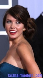 audrina patridge2 164x300 Side Swept Chignon