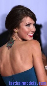 audrina patridge3 166x300 Side Swept Chignon