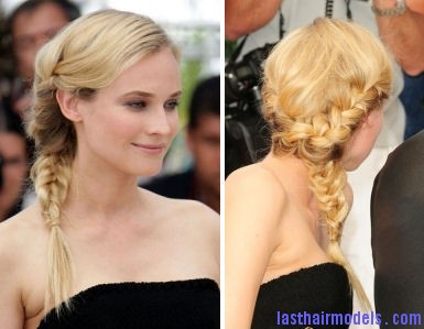 celebrity braid hair trend diane kruger Diane Kruger's 'Y' shaped messy plait: Styling is fun!