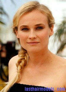 diane kruger side ponytail braid 214x300 diane kruger side ponytail braid